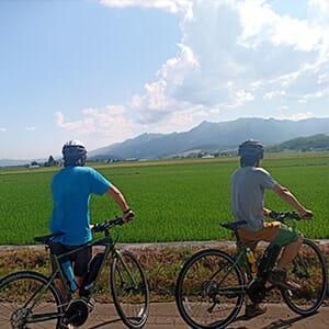 田園風景とE-BIKE