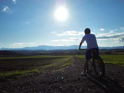 自転車と太陽