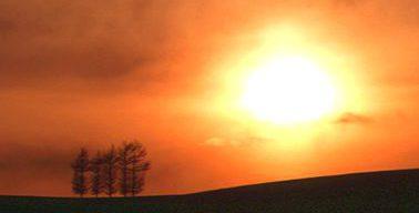 富良野の夕日